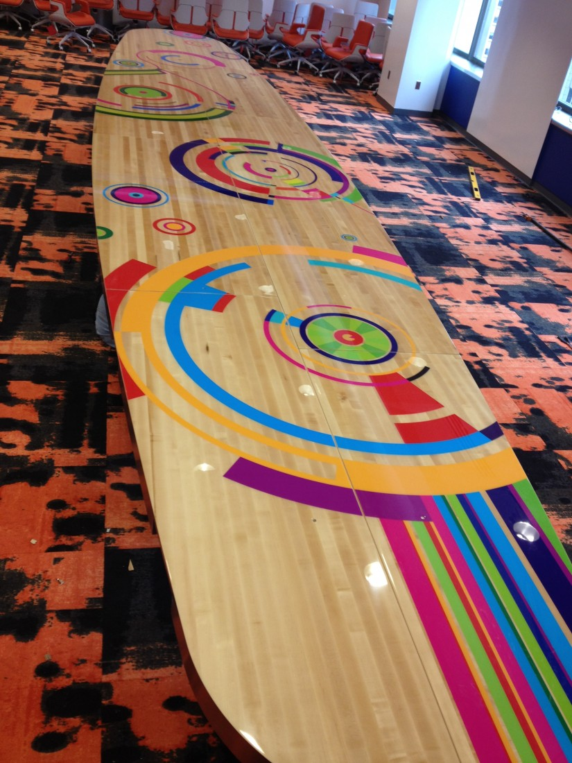 Custom Wood Floor For Conference Room